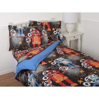Kids' Dancing Robots Comforter Set & Sheet Set Collection