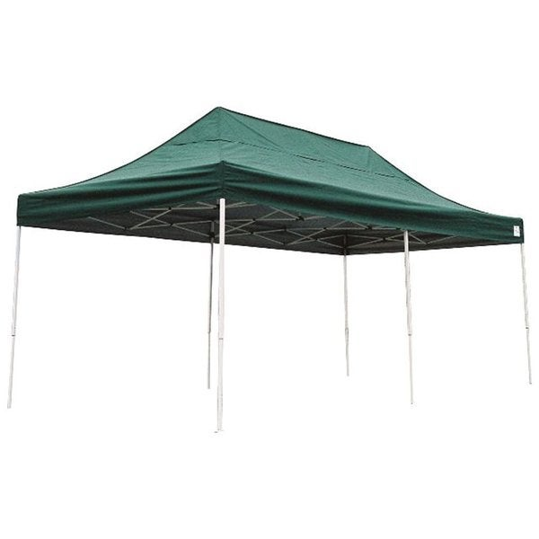 Shelterlogic Green Straight Leg Pop-up Canopy with Roller Bag (10' x 20')