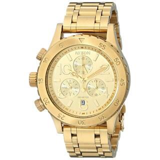 Nixon Women's A404501-00 Goldtone Stainless Steel Chronograph Quartz Bracelet Watch