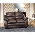 ABBYSON LIVING 'Monarch' Top Grain Brown Leather Loveseat