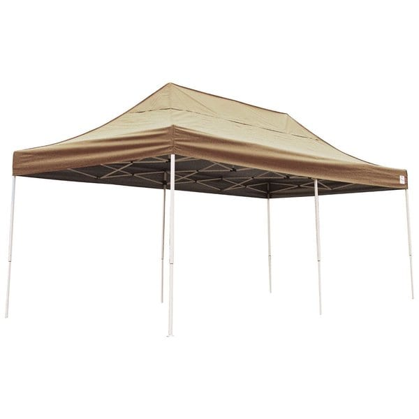 Shelterlogic Desert Bronze Straight Leg Pop-up Canopy with Roller Bag (10' x 20')