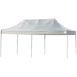Shelterlogic White Straight Leg Pop-up Canopy with Roller Bag (10' x 20')