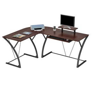 Simple Living L Shaped Natural Computer Desk 13725498