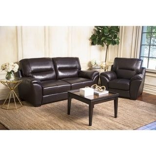 Abbyson Living 'Caprice' Top Grain Leather Sofa and Armchair