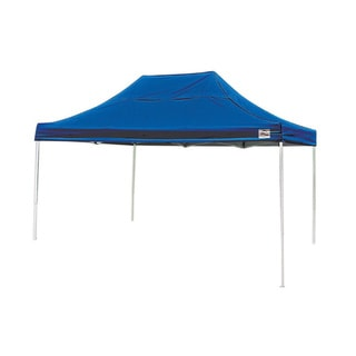 Shelterlogic Blue Straight Leg Pop-up Canopy with Roller Bag (10' x 15')