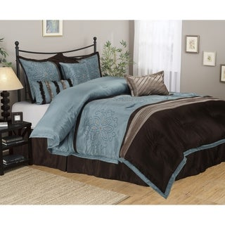 Luxor Treasures Wrinkle Resistant 7-piece Carleton Comforter Set