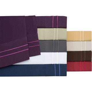 Megan Royal Microfiber 1600 Thread Count Sheet Set