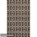 Mersa Links Reversible Flat Weave Wool Dhurrie Area Rug (3'6 x 5'6)