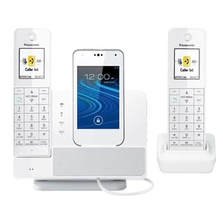 Panasonic KX-PRD262W DECT 6.0 1.93 GHz White Cordless Phone