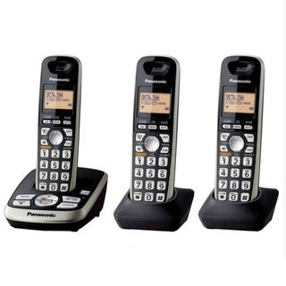 Panasonic KX-TG4223B DECT 6.0 Expandable Cordless Phone System With Digital Answering Machine