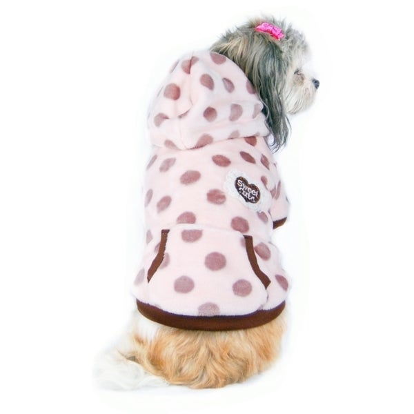 Insten Pink Pet Puppy Dog Ultra Soft Fleece Hoodie Coat