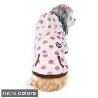 Insten Pink Dog Fleece Hoodie