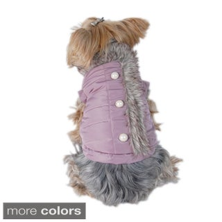 Insten Purple Pet Puppy Dog Taslon Stuffed Jacket