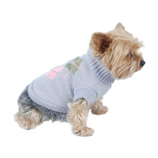 Insten Purple Pet Puppy Dog Argyle Sweater