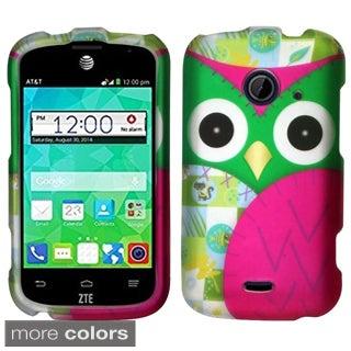 Insten Design Pattern Hard Snap-on Rubberized Matte Phone Case Cover For ZTE Prelude2 Z667/ Whirl 2/ Zinger Z667T