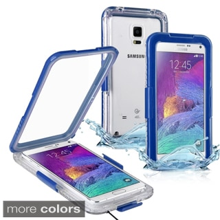 Insten Plain Hard Snap-on Waterproof Phone Case Cover Lanyard For Samsung Galaxy Note 4