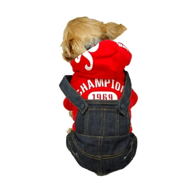 Insten Blue Pet Dog Puppy Cool Denim Pants Trousers Jeans Clothes Apparel