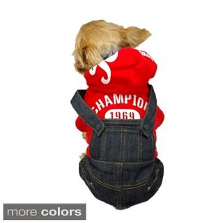 Insten Blue Pet Dog Puppy Cool Denim Pants Trousers Jeans Clothes Apparel