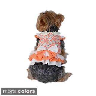 Insten Orange Pet Puppy Dog Flora Dress