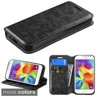 Insten Plain Leather Phone Case Cover with Stand/ Wallet Flap Pouch For Samsung Galaxy Prevail