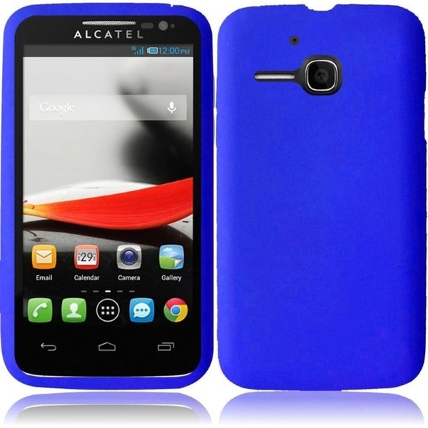 Insten Plain Soft Silicone Skin Rubber Phone Case Cover For Alcatel One Touch Evolve 5020T