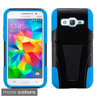 Insten Plain Hard PC/ Silicone Dual Layer Hybrid Phone Case Cover with Stand For Samsung Galaxy Core Prime/ Prevail