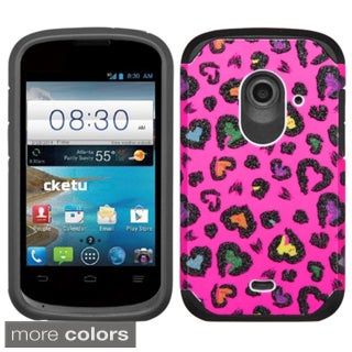 Insten Design Pattern Hard PC/ Silicone Dual Layer Hybrid Phone Case Cover For ZTE Prelude2 Z667/ Zinger Z667T