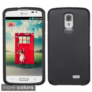 Insten Plain Hard PC/ Silicone Dual Layer Hybrid Rubberized Matte Phone Case Cover For LG F70 D315