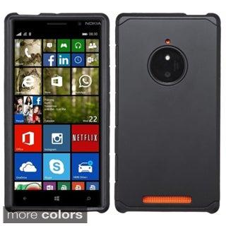Insten Plain Hard PC/ Silicone Dual Layer Hybrid Rubberized Matte Phone Case Cover For Nokia Lumia 830