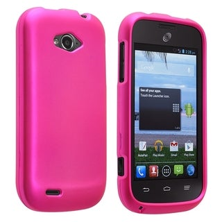 Insten Pink Hard Snap-on Rubberized Matte Phone Case Cover For ZTE Savvy Z750c