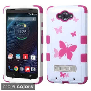 Insten Design Pattern Tuff Hard PC/ Silicone Hybrid Phone Case Cover with Stand For Motorola Droid Turbo