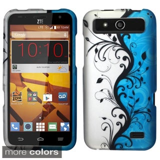 Insten Design Pattern Hard Snap-on Rubberized Matte Phone Case Cover For ZTE Speed