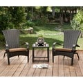 Furniture of America Riley Espresso Wicker Patio Chair (Set of 6)