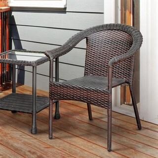 Furniture of America Dahlee Espresso Wicker Inspired Patio Chair