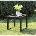 Furniture of America Riley Espresso Wicker Side Table