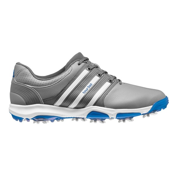 Adidas Men's Tour360 X Grey/FTW White/Bahia Blue Golf Shoes