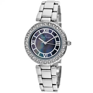 Anne Klein Women's 10-9621GMSV 'Classic' Stainless Steel Watch