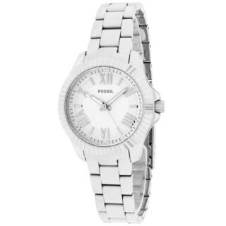 Fossil Women's AM4608 Round Cecile Silvertone Bracelet Watch