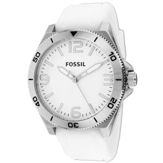 Fossil Men's BQ1173 Classic White Strap Watch