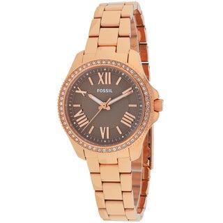 Fossil Women's AM4615 Cecile Round Rosetone Bracelet Watch