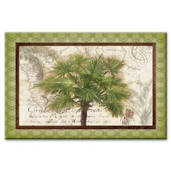 "Counterart Glass Cutting Board - West Indies Palm- 8""x12"""