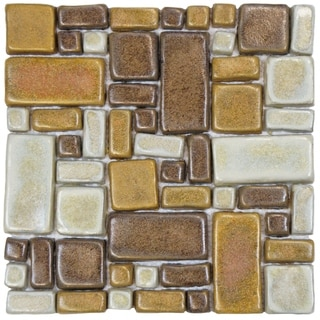 SomerTile 12x12-inch Handmade London Boulevard Ceramic Mosaic Floor and Wall Tile (Case of 5)