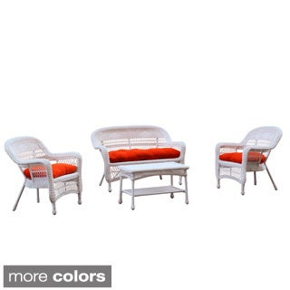 PORTSIDE WHITE 4PC OUTDOOR SET WITH CUSHIONS