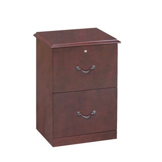 2-Drawer Cherry Vertical File Cabinet