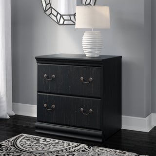 Bush Furniture Birmingham Lateral File in Antique Black