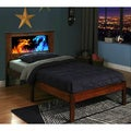 LightHeaded Beds Montgomery Twin Bed with Changeable Back-Lit LED Headboard Imagery - Espresso