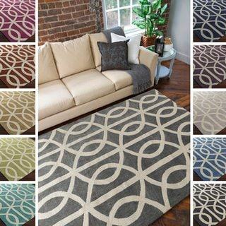 Hand-Tufted Dover Crosshatched Rug (7'6 x 9'6)