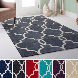 Hand-Tufted Frome Moroccan Trellis Rug (7'6 x 9'6)