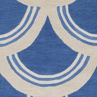 Artistic Weavers Hand-Tufted Blue Erith Geometric Rug (7'6 x 9'6)