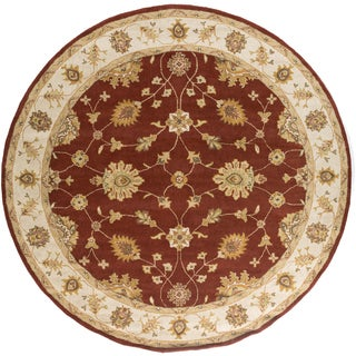 Artistic Weavers Hand-Tufted Wigan Border Wool Rug (3'6 Round)